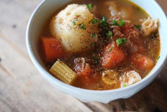 クミン入りスープ